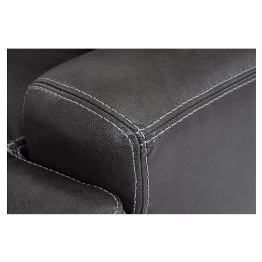 Cody Gray Power Motion Leather Loveseat w/Console  alternate image, 6 of 11 images.