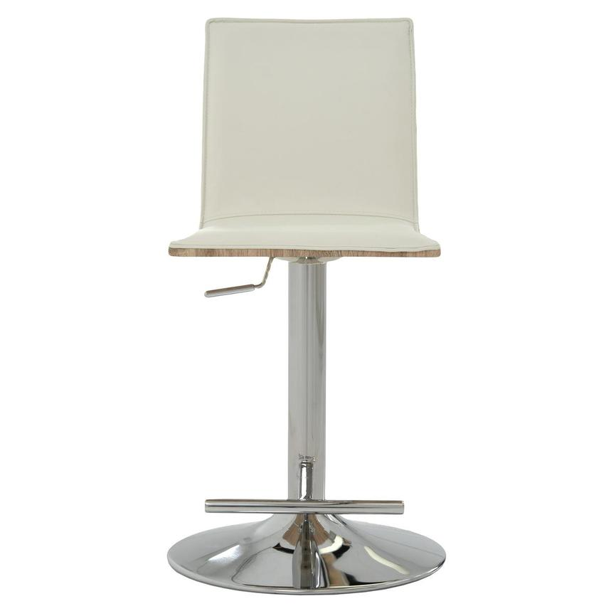 Solimar White Adjustable Stool  alternate image, 2 of 9 images.