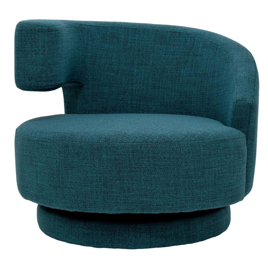 Okru Blue Swivel Chair w/2 Pillows  alternate image, 2 of 10 images.
