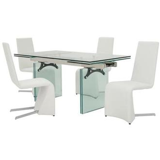 Annie/ Tui White 5-Piece Formal Dining Set