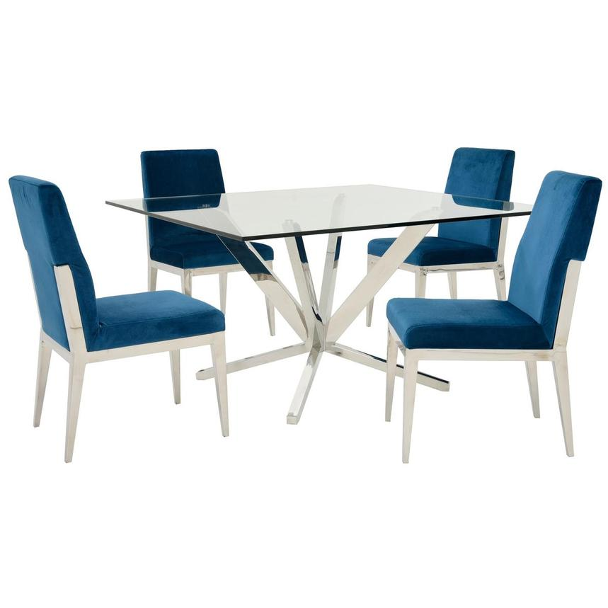 Ghettys/Met Blue 5-Piece Formal Dining Set  main image, 1 of 10 images.