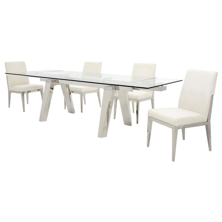 Madox/Met White 5-Piece Formal Dining Set  alternate image, 2 of 13 images.