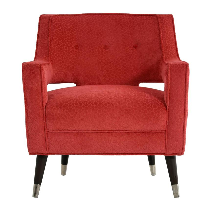 Brooke Red Accent Chair  main image, 1 of 6 images.