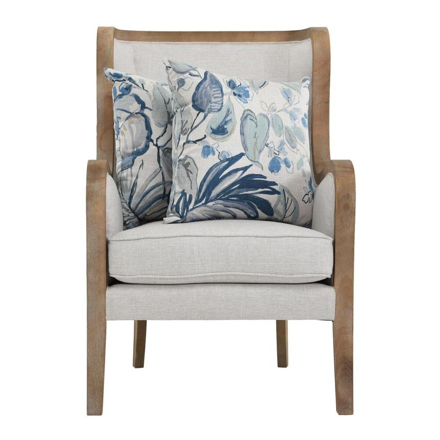 Scarlett Blue Accent Chair w/2 Pillows  alternate image, 2 of 12 images.