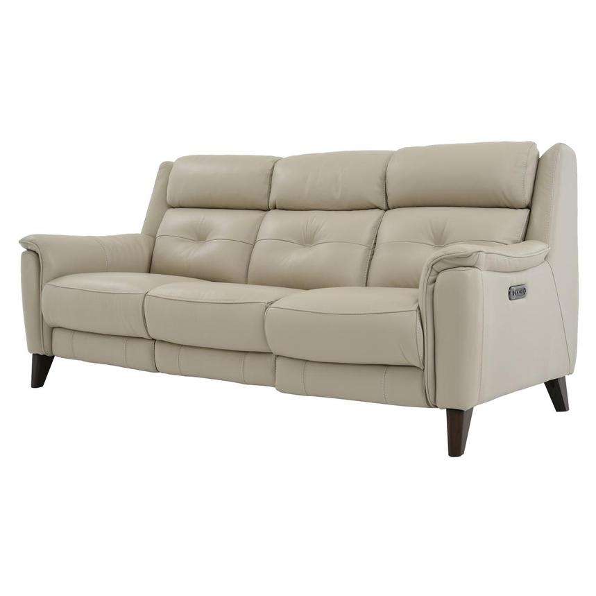 Mayte Cream Power Motion Leather Sofa El Dorado Furniture