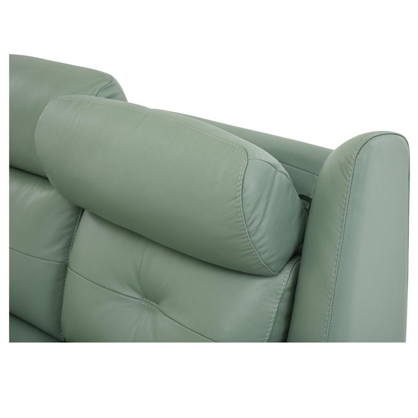 Mayte Green Power Motion Leather Sofa  alternate image, 7 of 10 images.