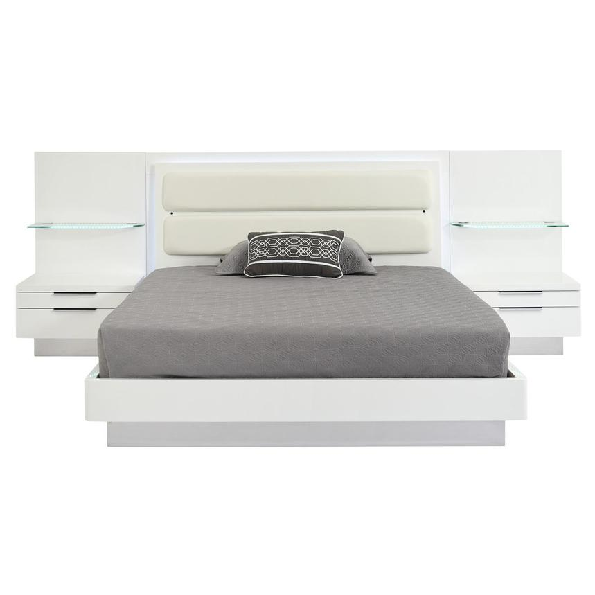 Ally Queen Platform Bed w/Nightstands  main image, 1 of 16 images.