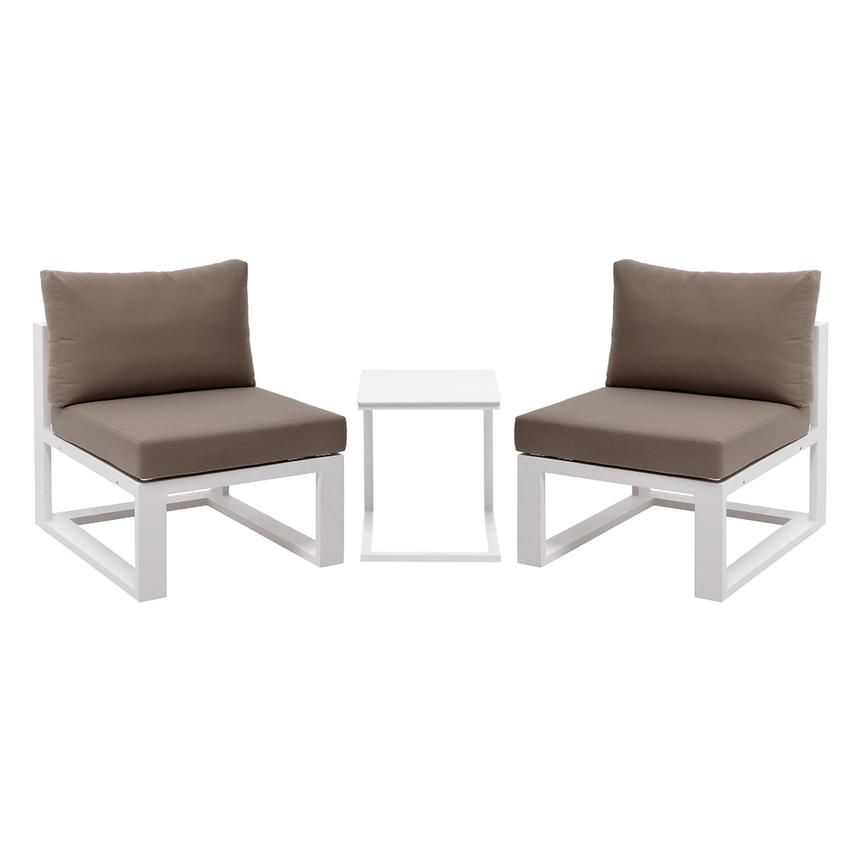 Mykonos Cream 3-Piece Patio Set  main image, 1 of 10 images.