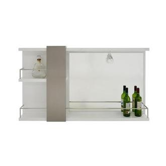 Totem White Bar Mirror