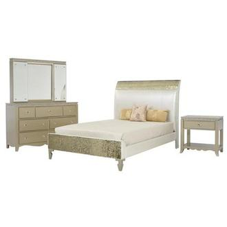 Glitz & Glam 4-Piece Full Bedroom Set