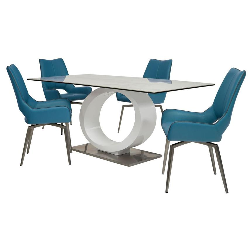 Fenti/Kalia Blue 5-Piece Formal Dining Set  main image, 1 of 15 images.