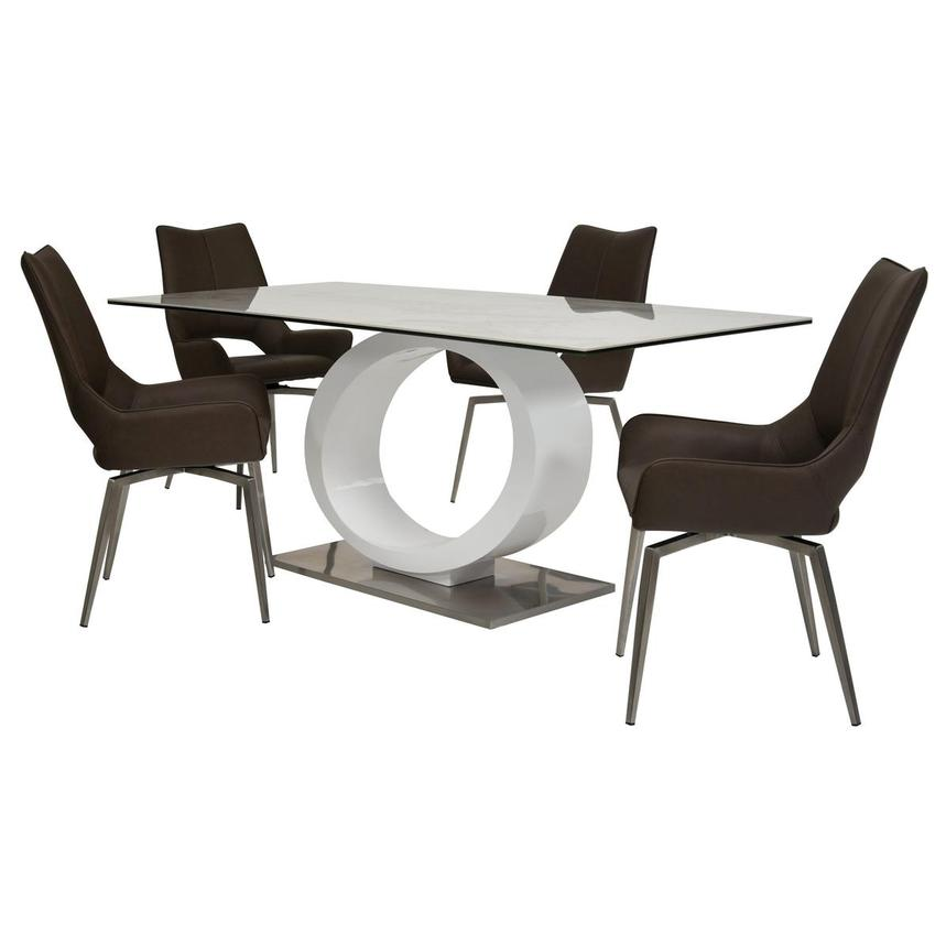 Fenti/Kalia Brown 5-Piece Formal Dining Set  main image, 1 of 15 images.