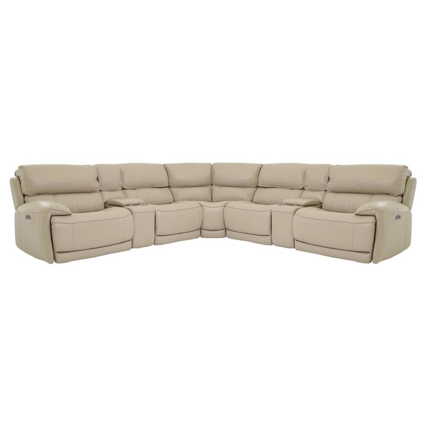 Cody Cream Power Motion Leather Sofa w/Right & Left Recliners  main image, 1 of 7 images.
