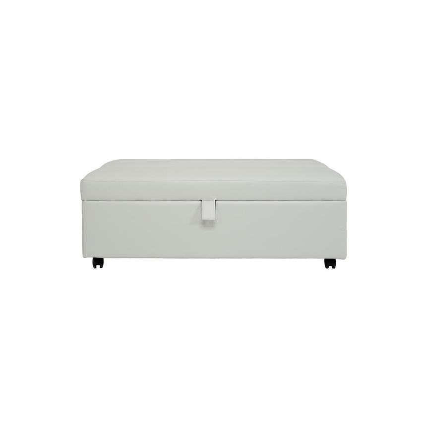Pressley II White Twin Ottoman Bed w/Casters  main image, 1 of 9 images.
