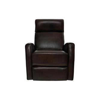 Lucca Brown Power Motion Leather Recliner