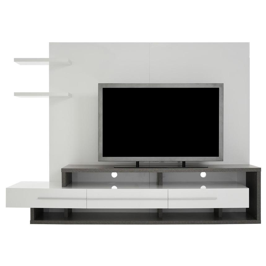 Avanti Gray/White Wall Unit  main image, 1 of 7 images.