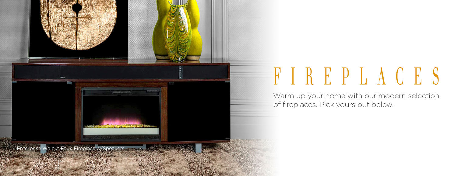 Fireplaces. Warm up your home with our modern selection of fireplaces. Pick yours out below.