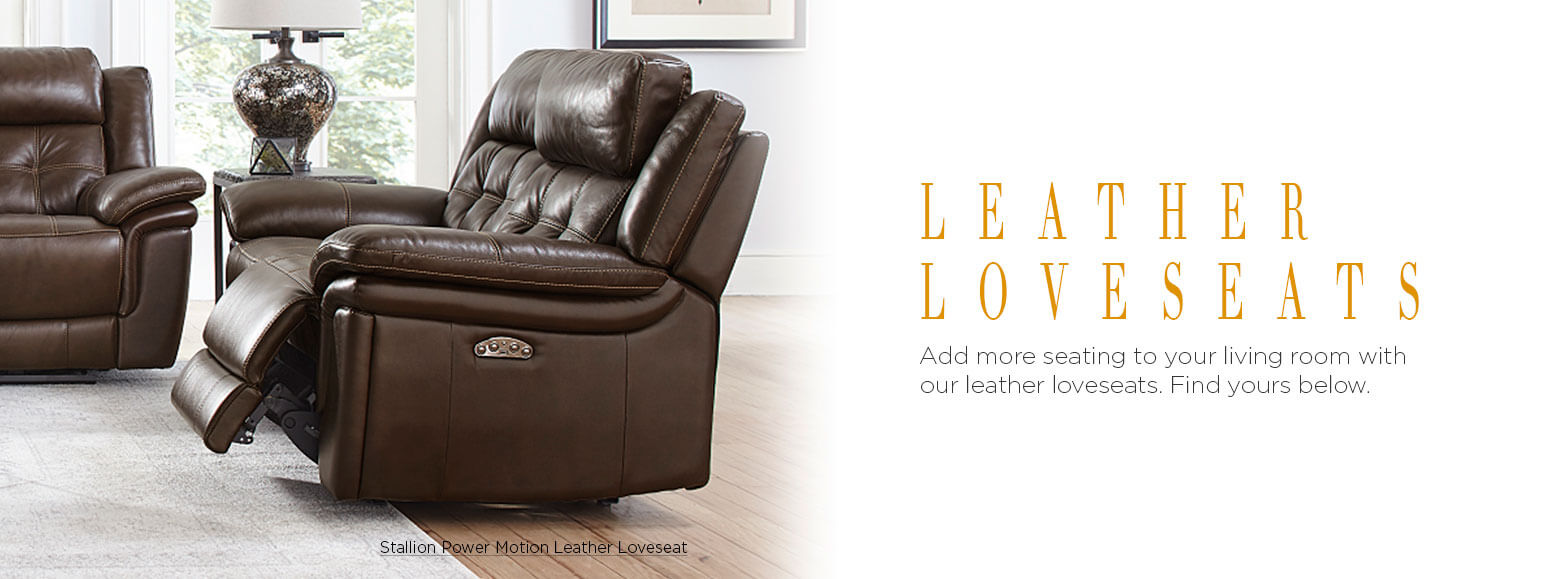 Leather Furniture Leather Loveseats El Dorado Furniture
