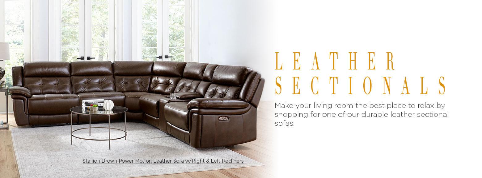 Leather Furniture Leather Sectional Sofas El Dorado