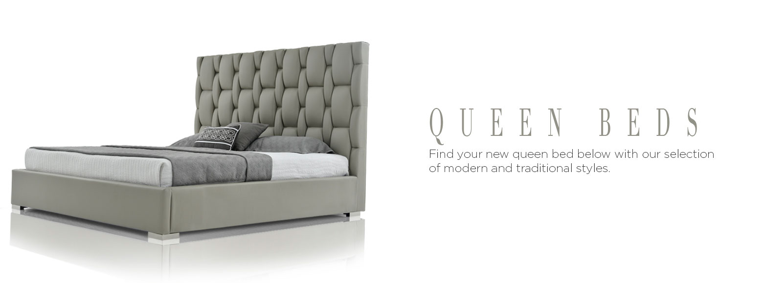 Queen beds. Style your bedroom with our selection of beautiful queen beds starting at 299.