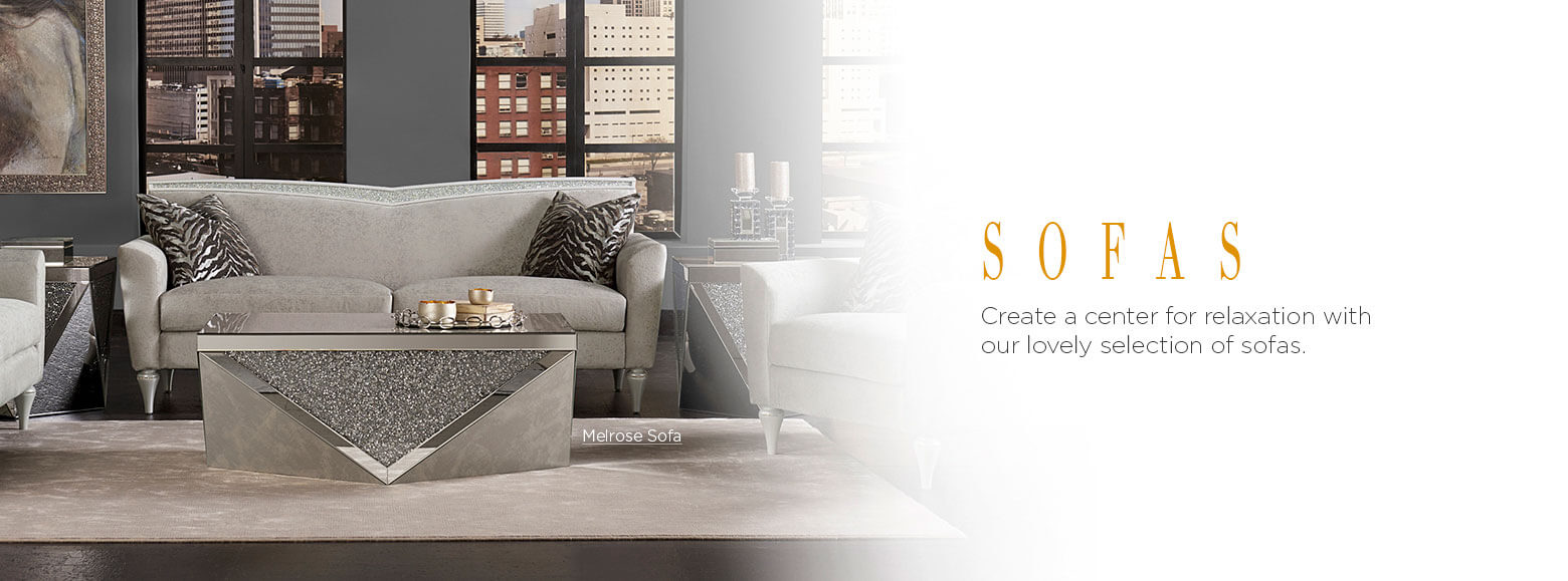 Sofas. Create a center for relaxation with our lovely selection of sofas. Melrose Sofa.