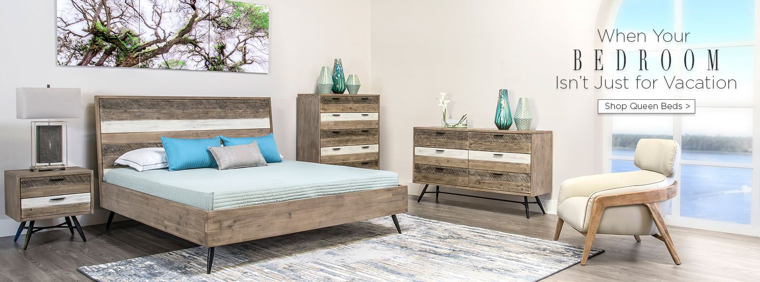 When Your Bedroom Isnu0027t Just For Vacation. Shop Queen Beds.