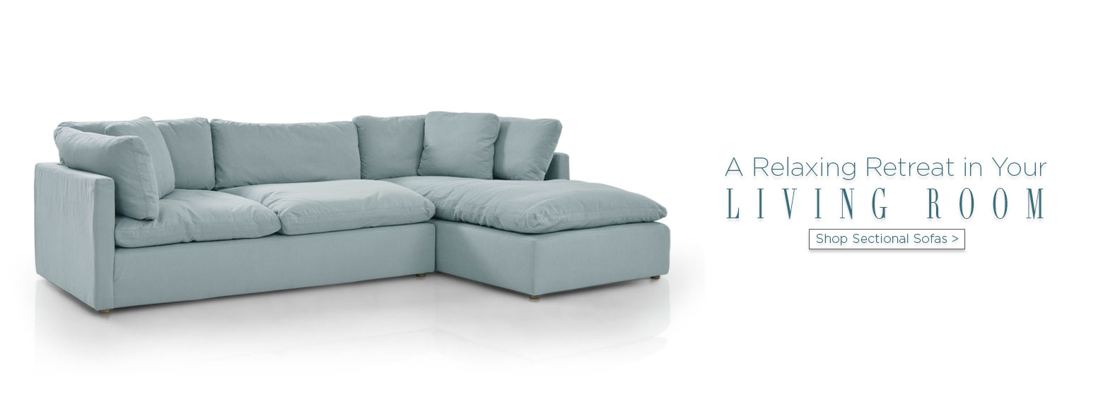 A relaxing retreat in your living room. Shop sectional sofas.