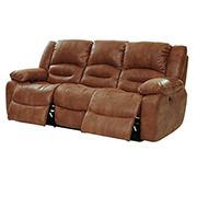 Wrangler Tan Recliner Sofa  alternate image, 2 of 5 images.