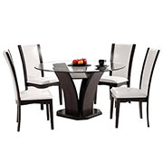 Daisy White 5-Piece Casual Dining Set  alternate image, 2 of 10 images.