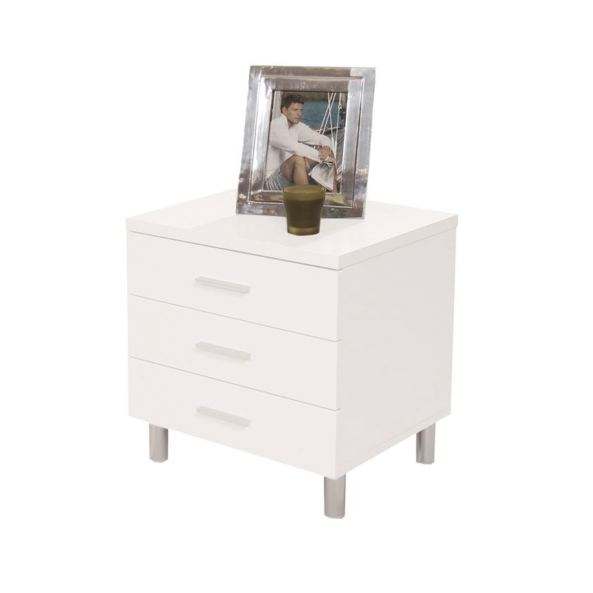 Bellmar White Nightstand  main image, 1 of 6 images.