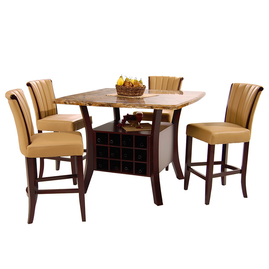 Meredith Tan 5-Piece Counter Dining Set  alternate image, 2 of 9 images.