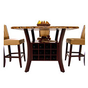 Meredith Tan 5-Piece Counter Dining Set  alternate image, 3 of 9 images.