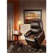Wynette Brown Power-Lift Leather Recliner  alternate image, 2 of 10 images.