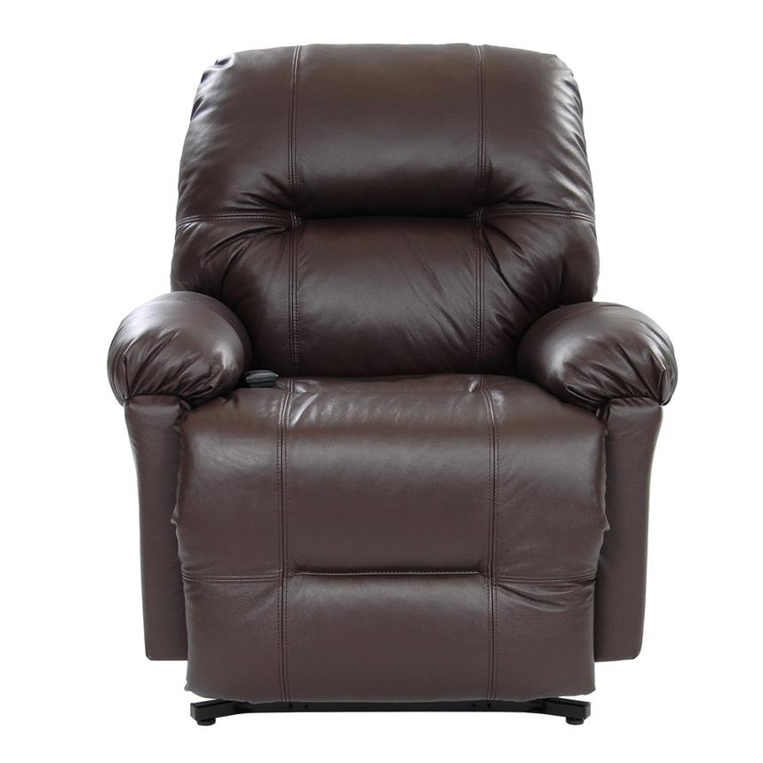 Wynette Brown Leather Power Lift Recliner  alternate image, 3 of 10 images.