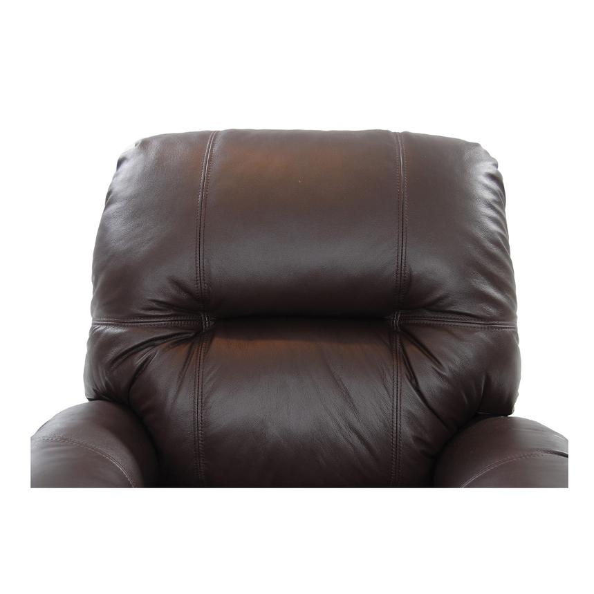 Wynette Brown Power-Lift Leather Recliner  alternate image, 7 of 10 images.