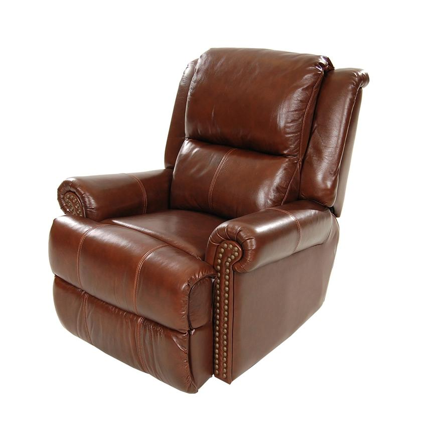 Mount Brown Leather Power Recliner  main image, 1 of 8 images.