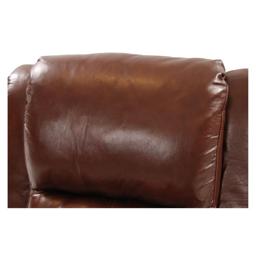 Mount Brown Leather Power Recliner  alternate image, 6 of 8 images.