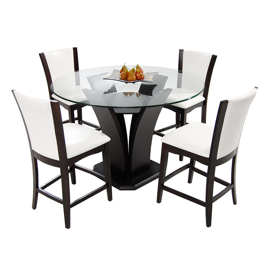 Daisy White 5-Piece High Dining Set  main image, 1 of 12 images.