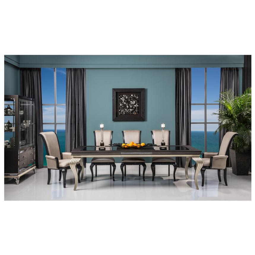 Hollywood Swank Black Extendable Dining Table  alternate image, 2 of 9 images.