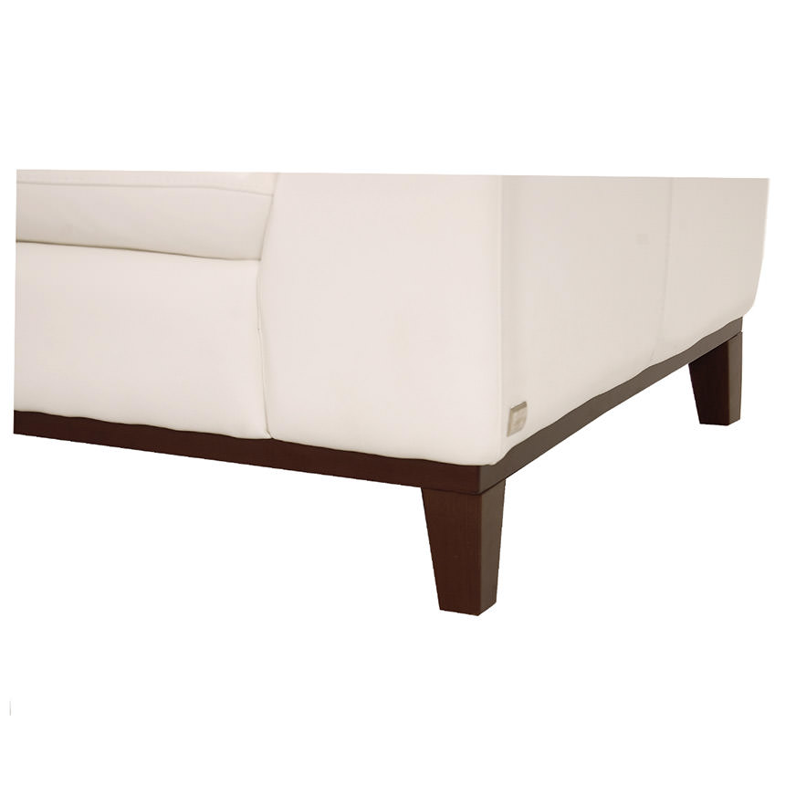 Milani White Leather Loveseat  alternate image, 6 of 6 images.