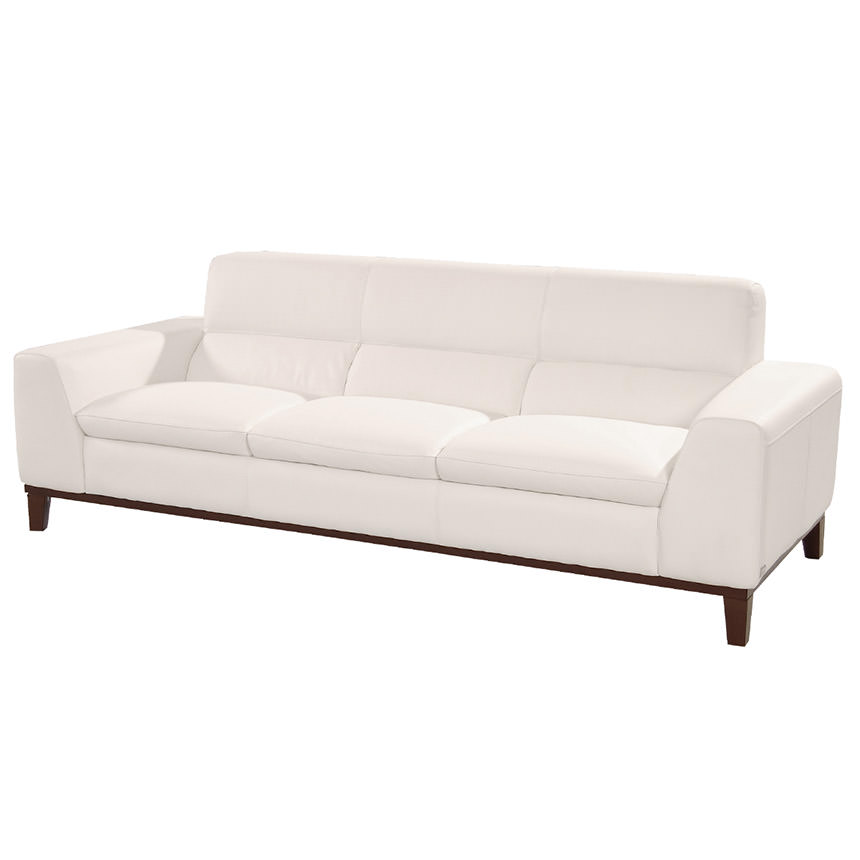 Milani White Leather Sofa  main image, 1 of 6 images.