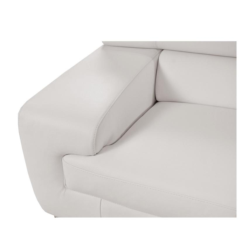 Grace White Leather Sofa w/Right Chaise  alternate image, 7 of 8 images.