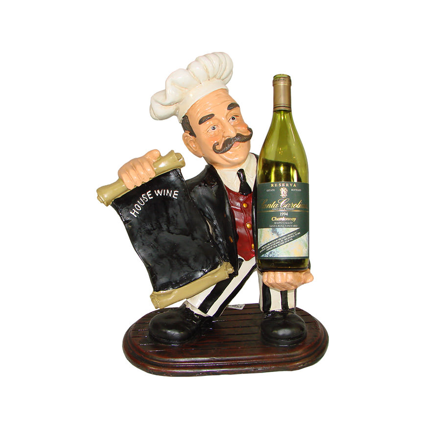 Chef Wineholder Figure  main image, 1 of 3 images.