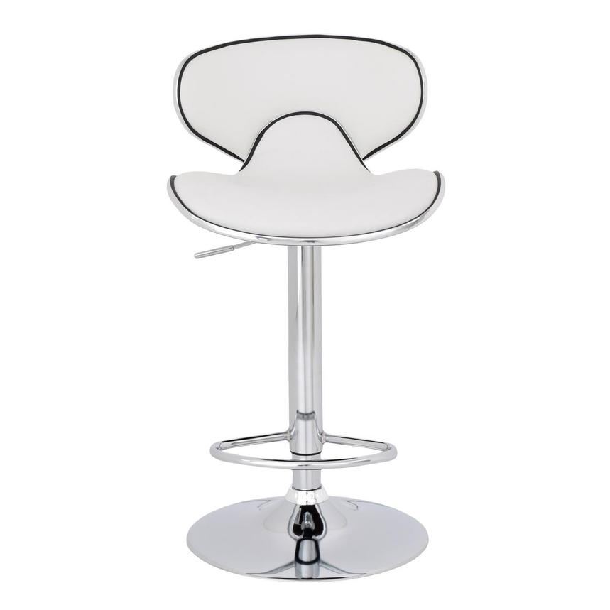 Clipper White Adjustable Stool  main image, 1 of 8 images.