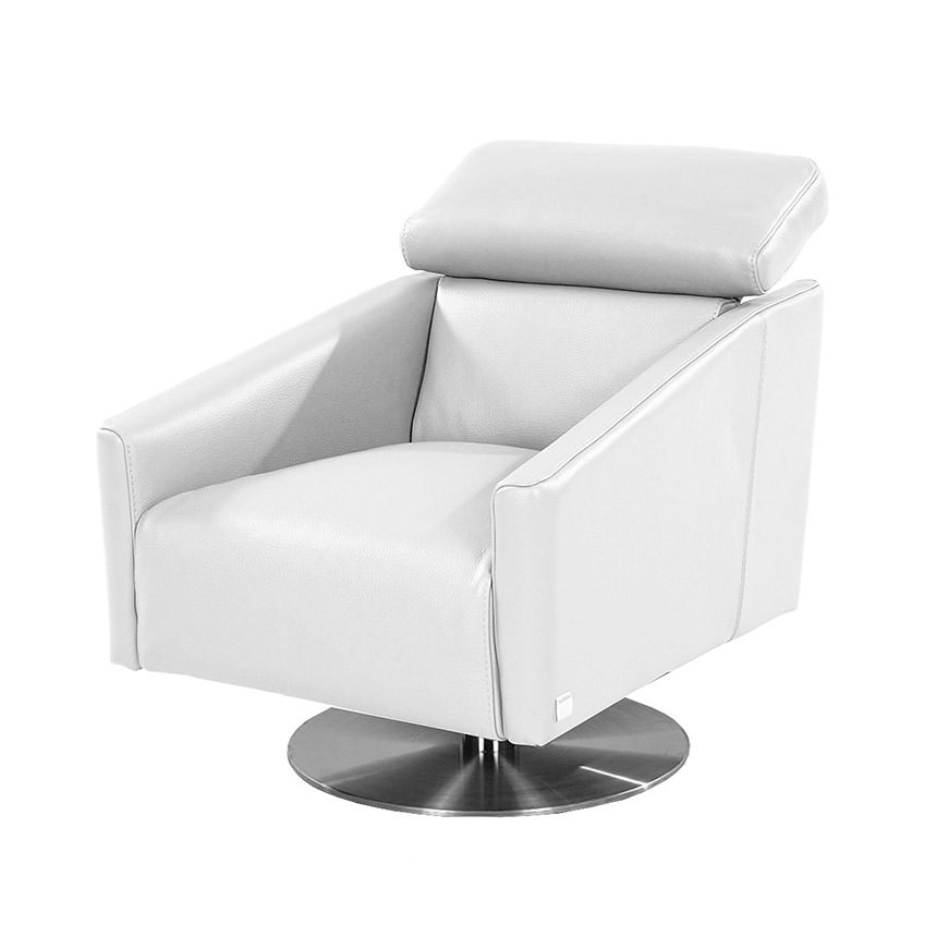 Div Leather Swivel Chair  main image, 1 of 5 images.