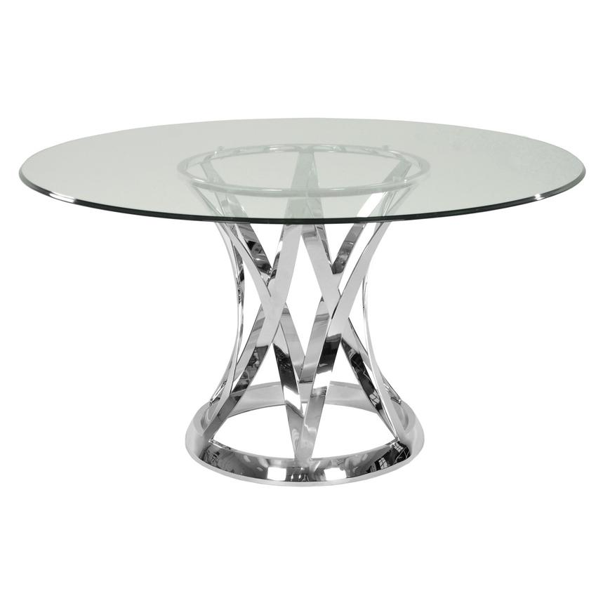 Janet Clear Round Dining Table  main image, 1 of 2 images.