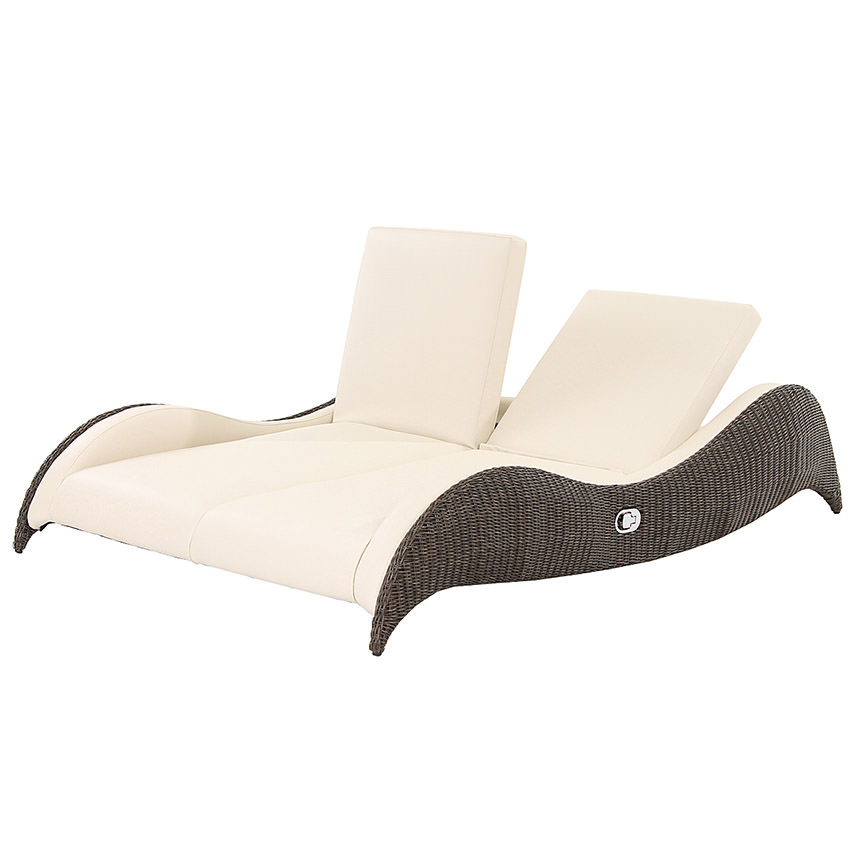 Luxor Brown Double Lounger  main image, 1 of 5 images.