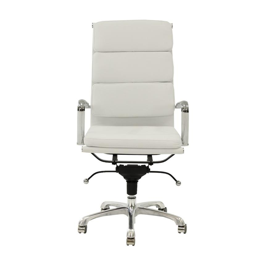 Marconi White High Back Desk Chair  alternate image, 2 of 5 images.