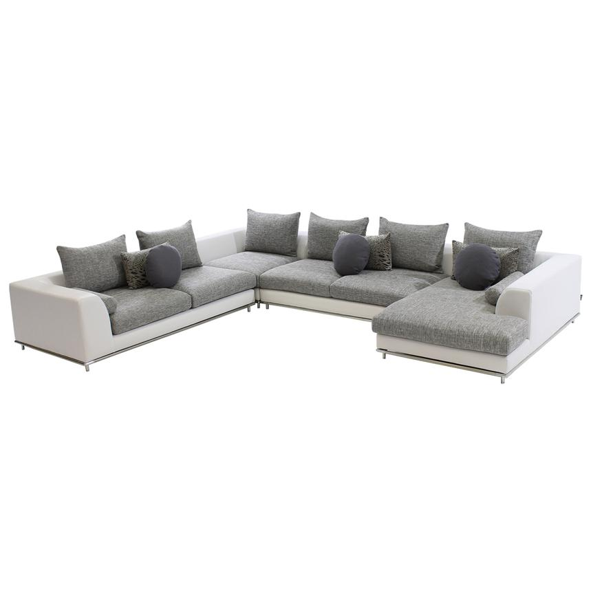 Hanna Sectional Sofa w/Right Chaise  main image, 1 of 5 images.