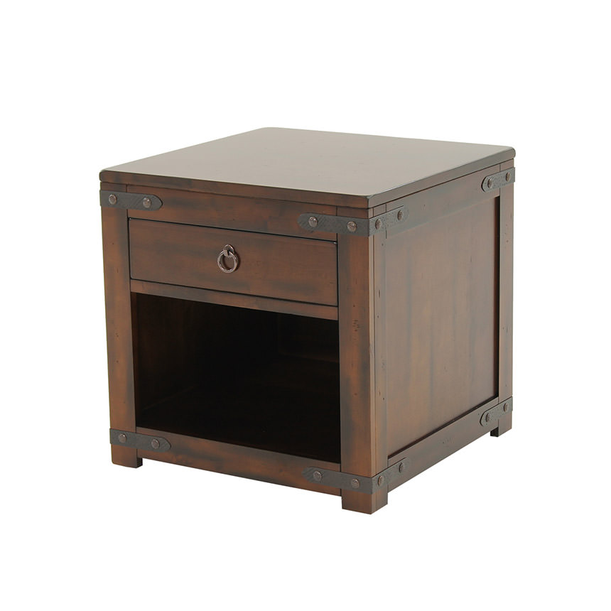 Santa Fe Side Table w/Storage  main image, 1 of 6 images.